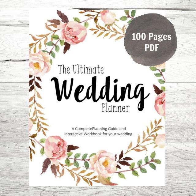 Printable Wedding Planner, DIY Wedding Planner, DIY ...