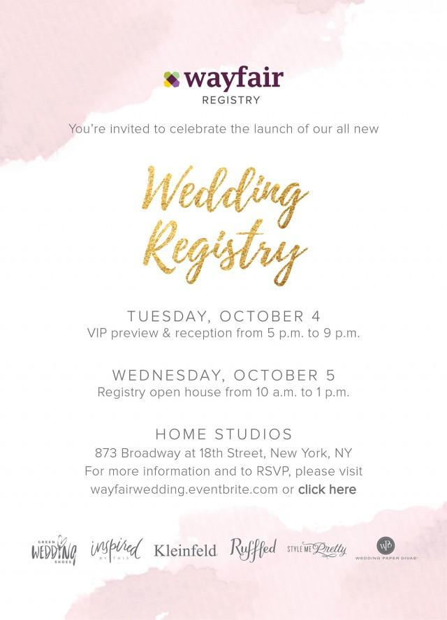 Introducing The Wayfair Registry Come Join Us At The