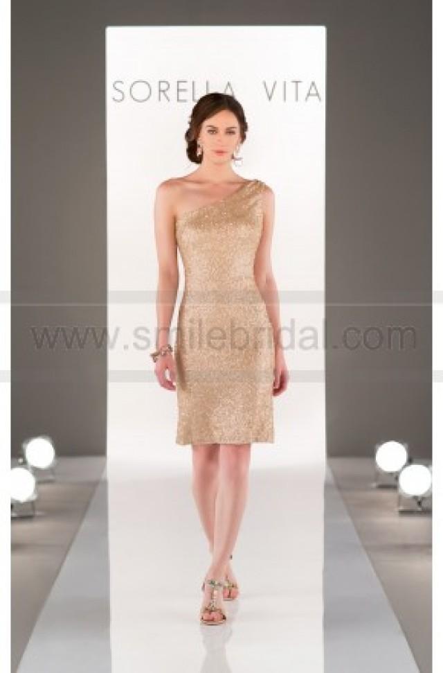 wedding photo - Sorella Vita One-Shoulder Sequin Bridesmaid Dress Style 8725 - Bridesmaid Dresses 2016 - Bridesmaid Dresses
