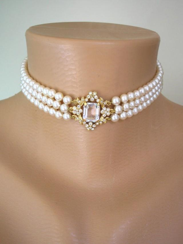 Pearl Choker Pearl Necklace Rosita Pearls Great Gatsby