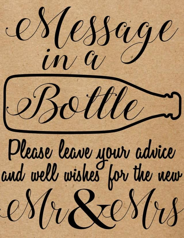 Instant Download Message In A Bottle Sign Rustic Country
