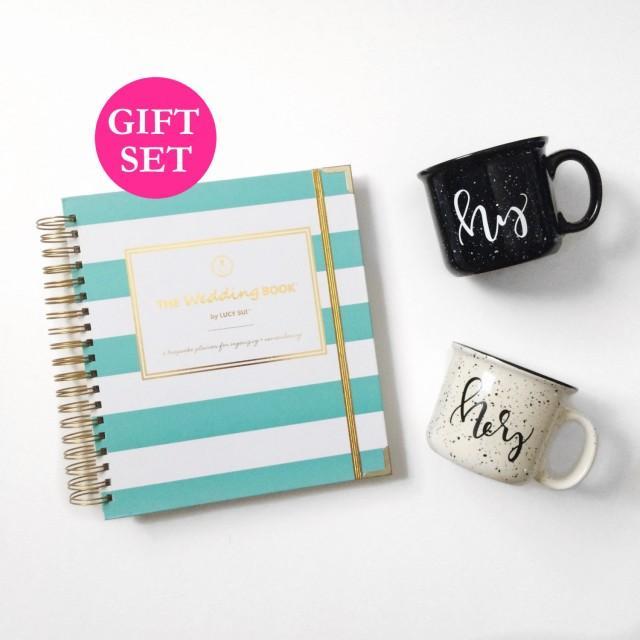 Wedding Planner Book Engagement Gift Set Keepsake Organizer Wedding ...