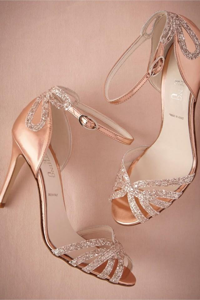 wedding photo - WANTED STYLE - Rose Gold Glitter Heels