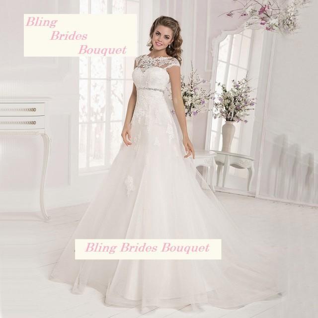 Bling Brides Maternity Wedding Dresses Lace Empire Bridal Dress Gowns Cap Sleeve Corset Back ...