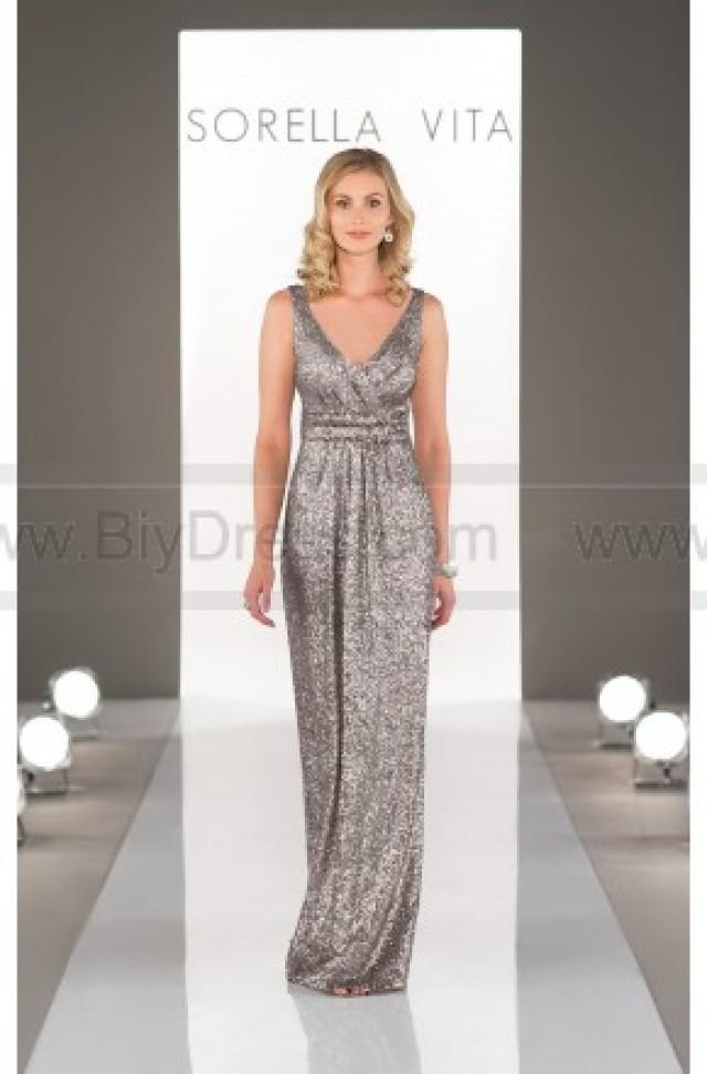 wedding photo - Sorella Vita Platinum Bridesmaid Dress Style 8686