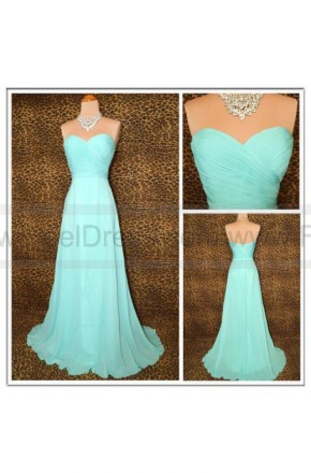 wedding photo - A Line Sweetheart Long Floor Length Prom Dresses/Evening Dresses
