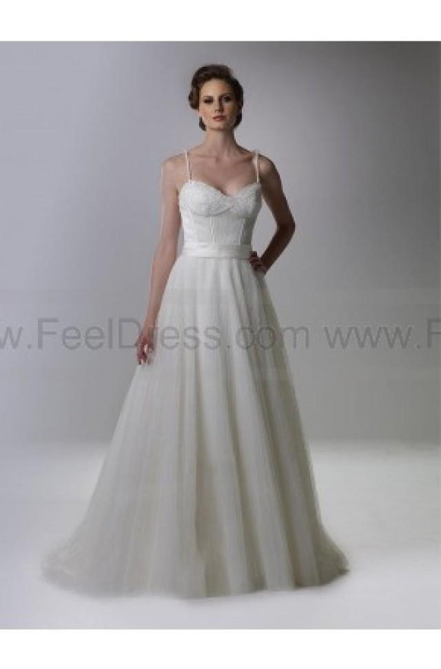 wedding photo - A-line Spaghetti Straps Silver Beading Tulle Sleeveless Floor-length Mother of the Bride Dress