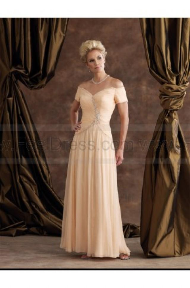 wedding photo - Off Shoulder V Neck Embroidery Floor_length Evening Dress