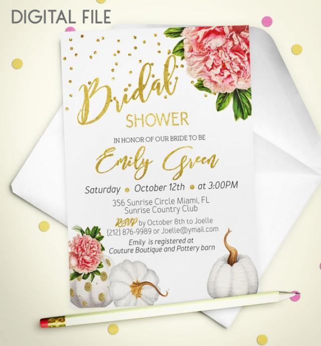 wedding photo - Bridal Shower Invitation Marsala Printable invite Bridal Shower Burgundy Gold Foil Shower Invitation Wine pumpkin Bridal Shower Invite idb44