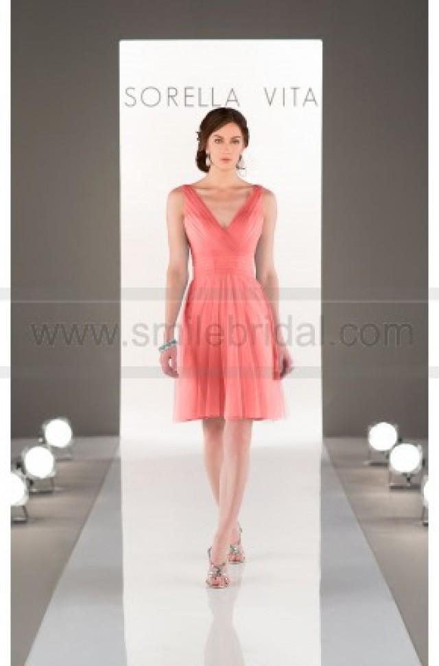 wedding photo - Sorella Vita Tulle Bridesmaid Dress Style 8701