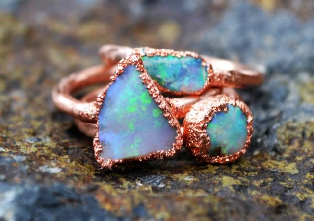 Opal Ring, Copper Electroformed Ring, Raw Crystal Ring. Interesting Wedding Rings. Infinity Engagement Rings. Love Cartier Rings. Rare Blue Diamond Engagement Rings. Coin British Rings. Old Person Wedding Wedding Rings. Woman Rectangle Wedding Rings. Scroll Rings
