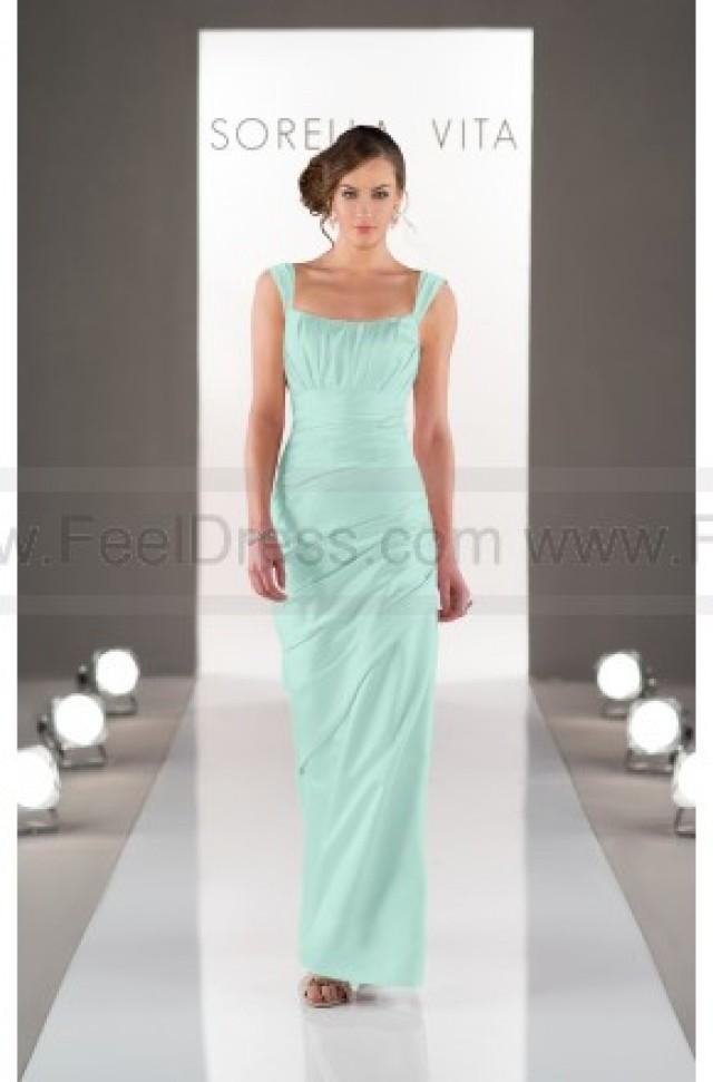 wedding photo - Sorella Vita Bridesmaid Dress with Straps In Satin Style 8503