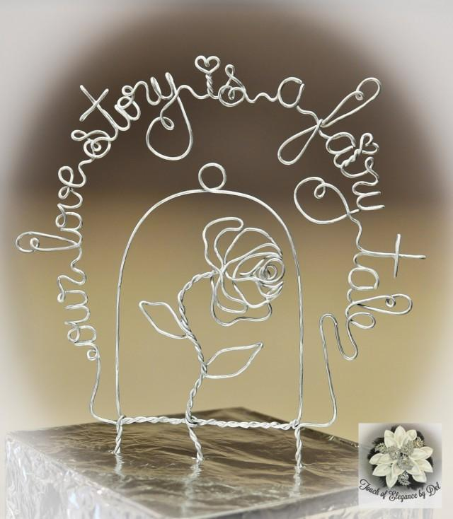 Fairy-tale Inspired Wedding Cake Topper - Beauty Rose Cake ...