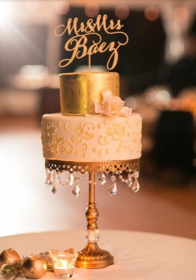 wedding photo - Custom Mr and Mrs (insert your name) Cake Topper. wedding topper for cake.