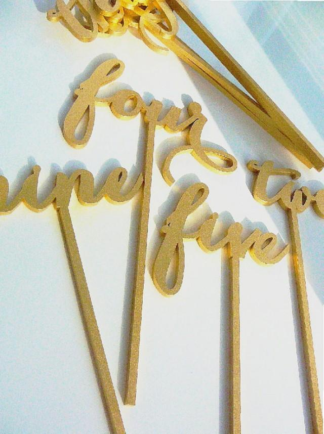 wedding photo - Table numbers without base. Table numbers. Wedding table decoration
