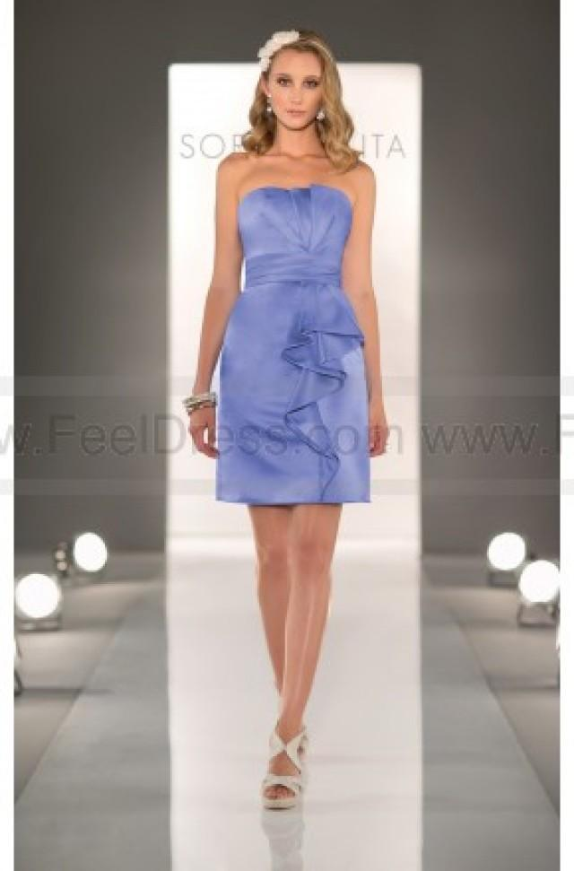 wedding photo - Sorella Vita Light Blue Bridesmaid Dress Style 8274