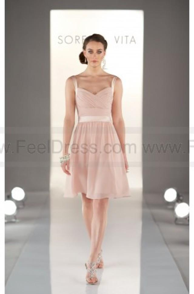 wedding photo - Sorella Vita Peach Bridesmaid Dresses Style 8381