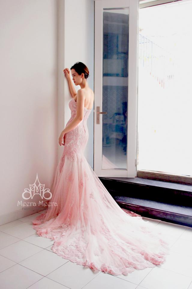 wedding photo - Sweet pink mermaid wedding dress from Meera Meera  Sweet pink mermaid wedding dress code kh1507