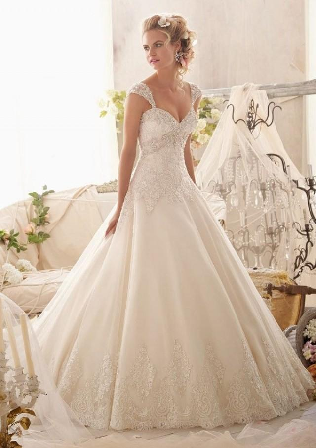 wedding photo - Mori Lee 2609 Beaded A-Line Wedding Dress
