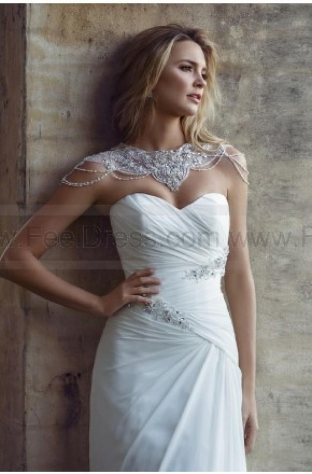 wedding photo - Mia Solano Chiffon A-line Wedding Dress - Bliss