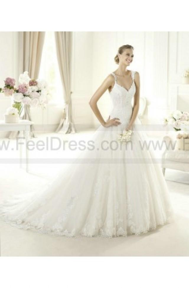 wedding photo - Wedding Gown - Style Pronovias Uri Lace And Tulle V-Neck