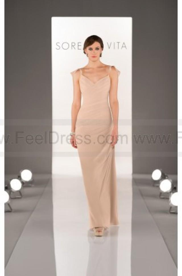 wedding photo - Sorella Vita Champagne Bridesmaid Dresses Style 8462