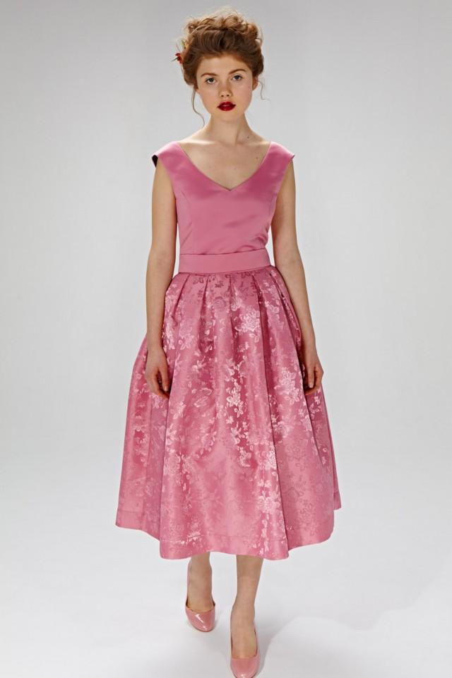 Pink Wedding Dress 50s Inspired Dress Chic Wedding Dress