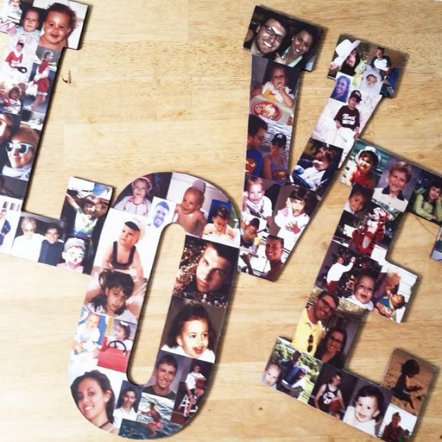 wedding photo - Custom Photo Collage, Letter Photo Collage, Wood Letters, Personal Collage, Photo Collage, Personal Photo Collage, Custome Photo Display
