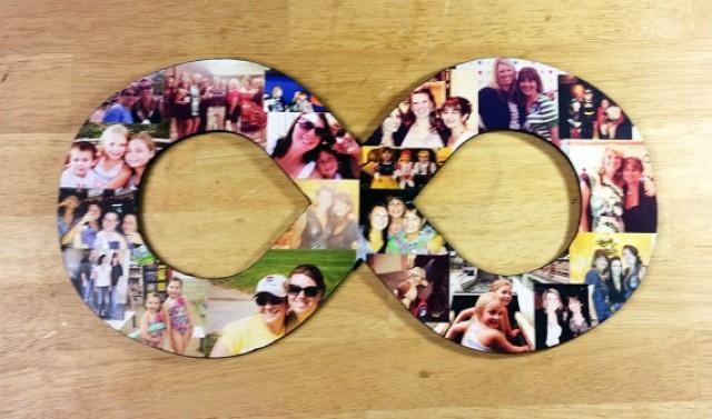 wedding photo - Custom Photo Collage, Infinity Photo Collage, Wood Letters, Personal Collage, Photo Collage, Personal Photo Collage, Custom Photo Letters