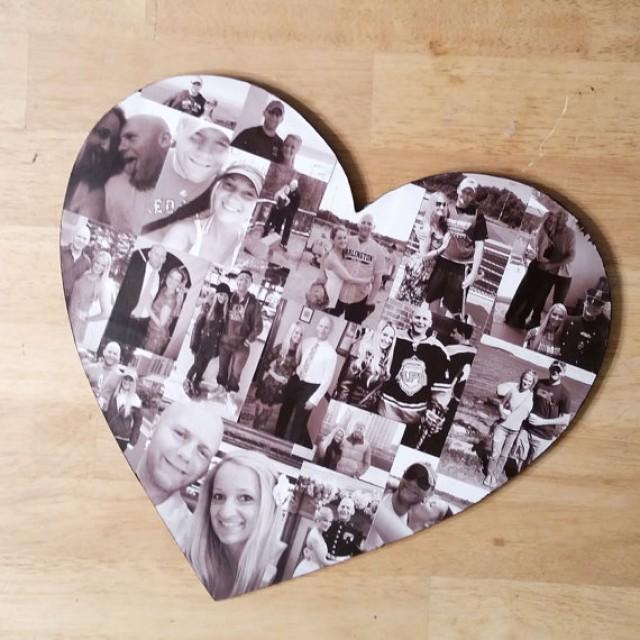 wedding photo - Custom Photo Collage, Heart Photo Collage, Wood Letters, Personal Collage, Photo Collage, Personal Photo Collage, Customized Photo Letters