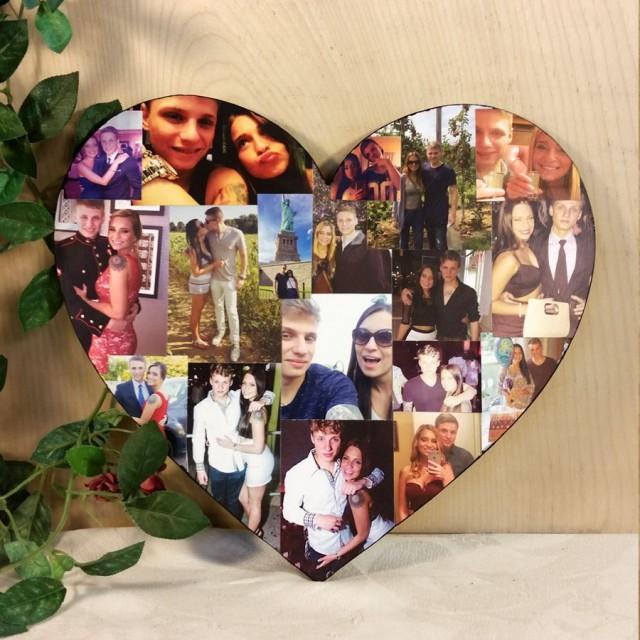 wedding photo - Custom Photo Collage, Heart Shape Photo Collage, Wood Letters, Personal Collage, Photo Collage, Personal Photo Collage, Custom Photo Letters