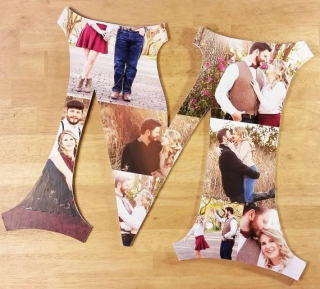 wedding photo - Custom Photo Collage, Photo Collage Letters, Custom Photo Letter, Personal Collage, Photo Collage, Personal Photos, Customized Photo Letters