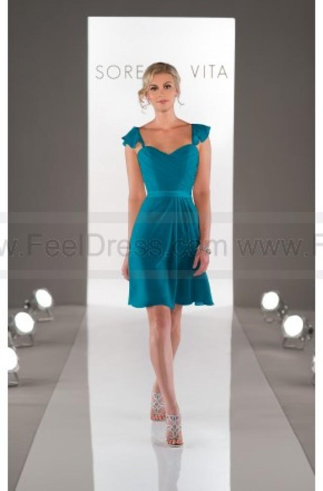 wedding photo - Sorella Vita Teal Bridesmaid Dress Style 8445