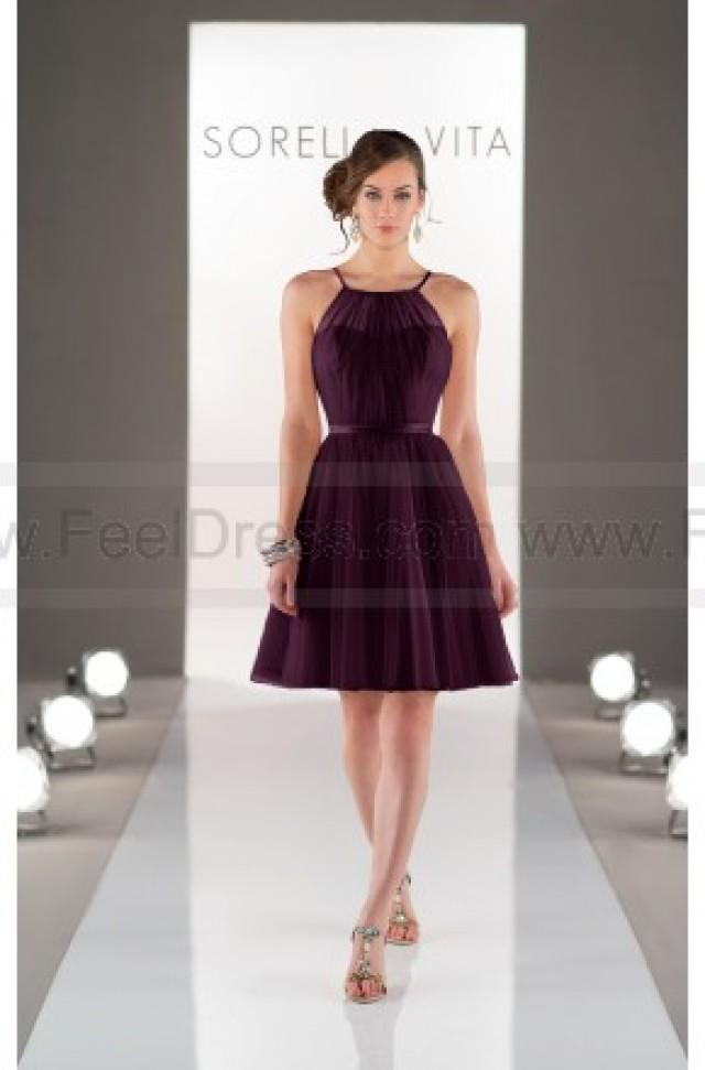 wedding photo - Sorella Vita Sheath Bridesmaid Dress Style 8430