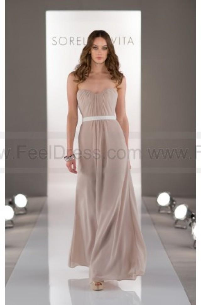 wedding photo - Sorella Vita Tan Bridesmaid Dress Style 8414