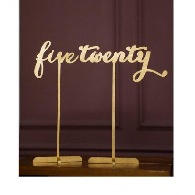 wedding photo - 10 Freestanding Gold Table Numbers. Wedding Numbers. Table numbers.   FREE Cake Topper Shipping next day!!