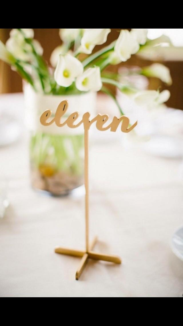 wedding photo - Set of 4 Freestanding Gold Table Numbers. Wedding Numbers. Table numbers.   FREE Cake Topper.Shipping next day!!