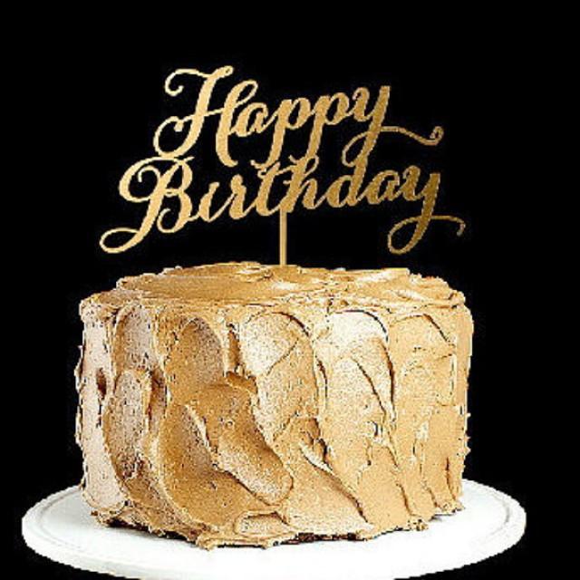 wedding photo - Happy Birthday Cake topper