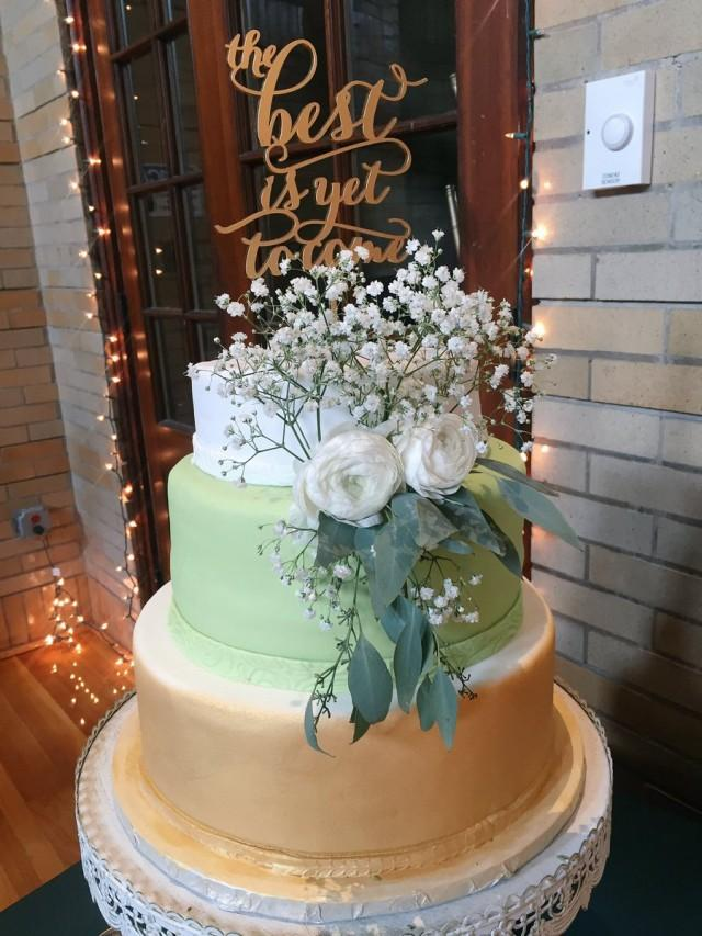 wedding photo - SaleThe best is yet to come Wedding Cake Topper