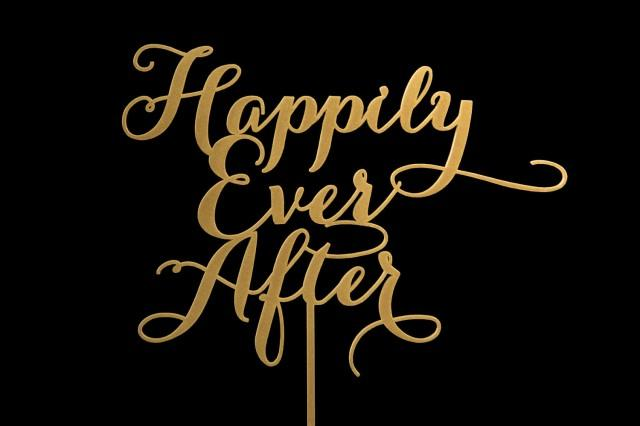 wedding photo - Sale Happily Ever After Wedding Cake Topper
