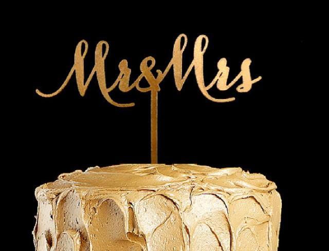 wedding photo - Mr and Mrs Wedding Cake Topper