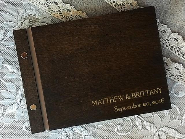 wedding photo - Custom guest book Wedding guest book Rustic Keepsake Personalized Guestbook Custom Designed Wedding guest book Customized guest book