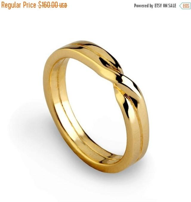 holidays sale knot ring gold wedding band unique