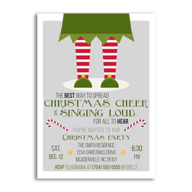Christmas Invitations Christmas Invitation Elf Christmas Party