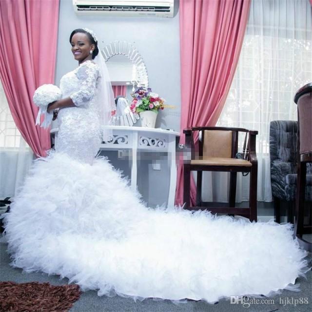 2017 vintage african mermaid wedding dresses off shoulder for Long sleeve mermaid wedding dresses 2017