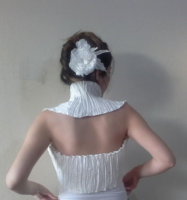 wedding photo - Ivory shoulders wrap shrug. wedding shrug, Bridal Shrug Bolero, Shirred Top Summer weddings Clothes