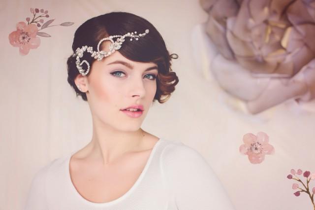 wedding photo - Autumn Wedding Bridal Hair Adornment. Jewelry Hair Vine. Wedding Hair Jewelry. The Elsie Silver Crystal Hair Vine #145