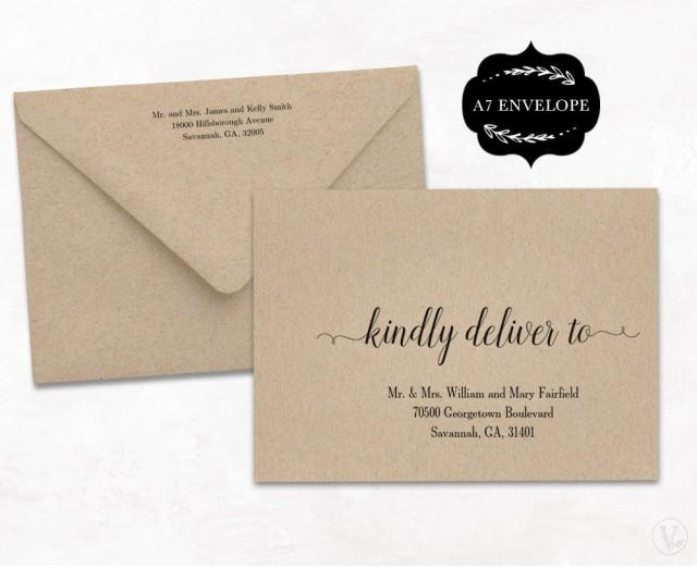 Wedding Envelope Template, Printable Wedding Envelope Template, A7