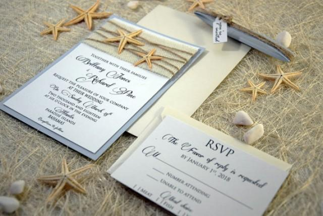 how to make burlap wedding invitations
