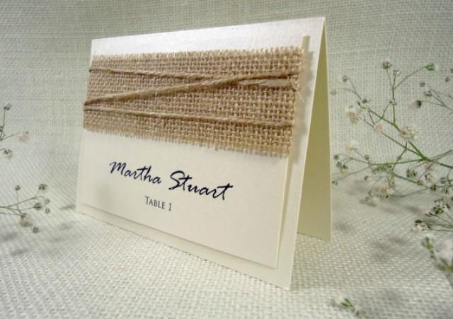 wedding photo - Burlap Wedding Place Cards Name Place Cards Holders for Weddings Burlap Place Cards